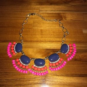 J crew bohemian statement fan style necklace